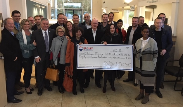 RE/MAX of Nanaimo Donates $86,248.50 to Children's Miracle Network Hospital in 2018