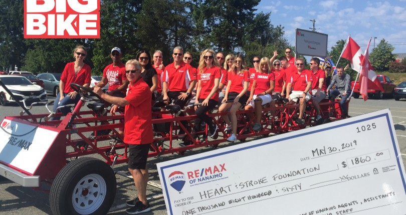 RE/MAX of Nanaimo Rides for Heart & Stroke Research