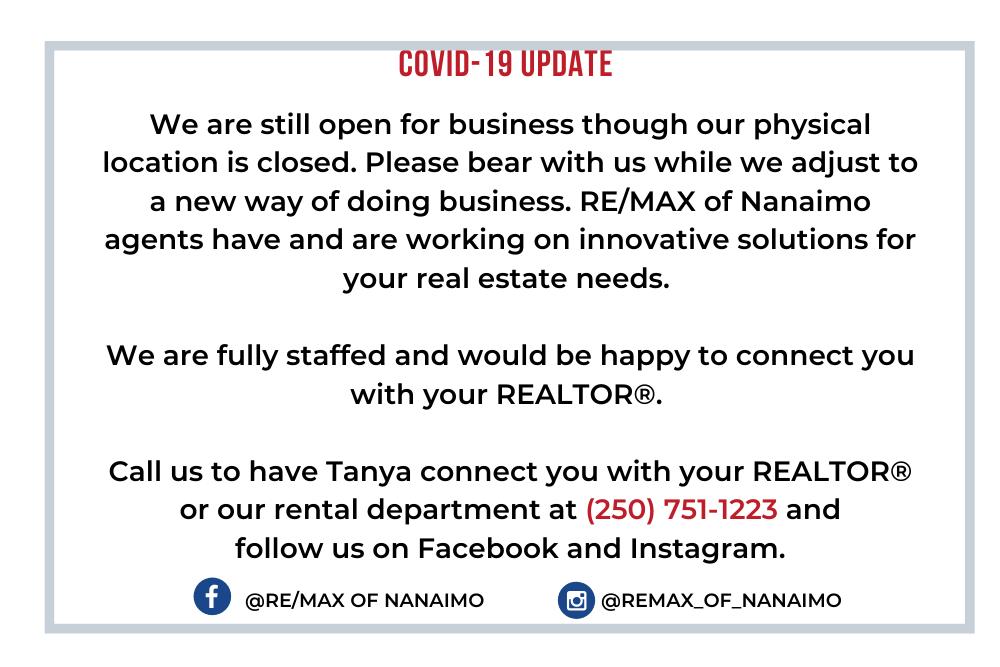 Victoria Real Estate, COVID 19 Update